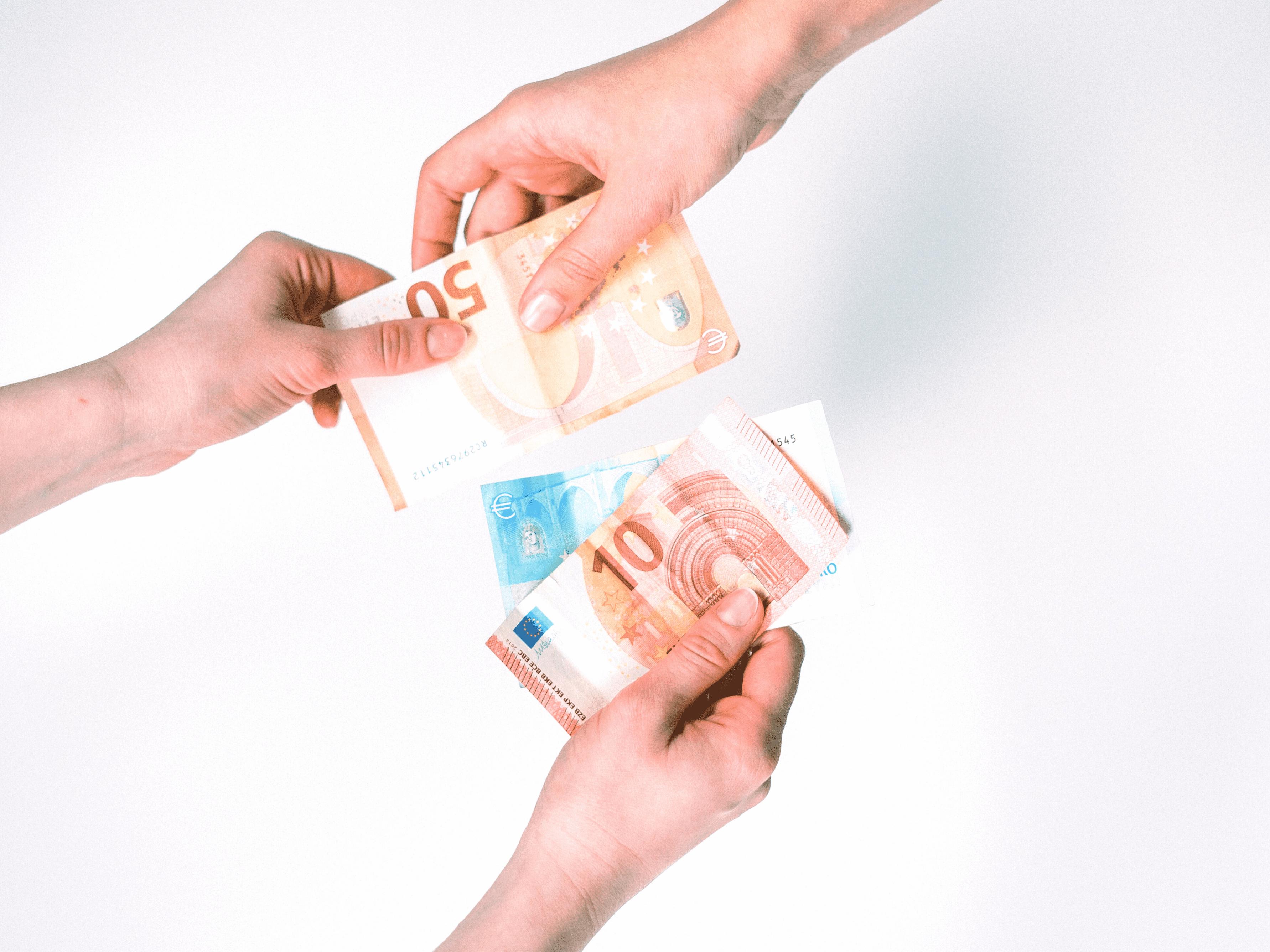 échange de billets en euros
